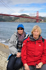 Becs and Jan at Fort Point