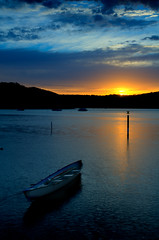 216/365 | Hawkesbury sunrise | Boat portrait (Ross Photography) Tags: cloud mountains reflection water clouds reflections river landscape nikon grad 2012 hawkesbury hawkesburyriver d300 2470 nd8gradfilter nd8grad nikond300 240700mmf28 nikon2470 nikon2470f28