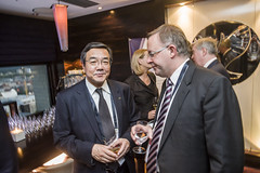 Koji Sekimizu with Anthony Albanese at the Ministers' Dinner