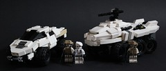 EU Groupshot with Rhino APC (Andreas) Tags: lego military halo apc masseffect thepurge euarmy legotrooptransport halomasseffect
