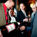 Assistant Winemaker Ronald Du Preez pours a six liter of 1979 Jordan Cabernet for guests