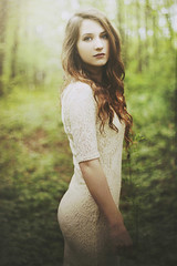A New Beginning (Shelby Robinson) Tags: portrait brown tree green girl grass canon hair rebel 50mm dress bokeh lace f18 teenage t1i