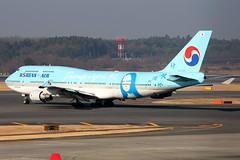 Korean Air   Boeing 747-400   HL7402   Passionate Wings to Art   Tokyo Narita (Dennis HKG) Tags: plane canon airplane tokyo aircraft monalisa 1d boeing 747 narita 747400 nrt planespotting boeing747400 koreanair 100400 rjaa hl7402