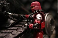 Refueling (Troops of Doom) Tags: trooper crimson toy cobra action joe figure diorama gi hiss
