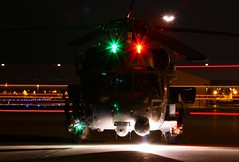 HH-60 Pave Hawk (dkuttel) Tags: longexposure rescue night pj pdx usaf sikorsky lightstreaks hh60 kpdx hh60pavehawk