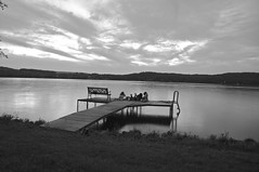Friends on the dock (mack99301) Tags: sunset summer wisconsin children fb lakewisconsin
