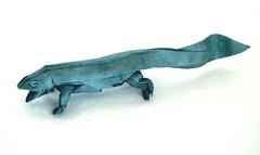 Giant Salamander (folding~well) Tags: giant paper origami salamander folding