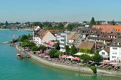 Friedrichshafen Promenade (flyingkiwigirl) Tags: tower church ferry germany town harbour promenade friedrichshafen lakeconstance castlechurch friedrichshafencastle ferdinandzeppelin