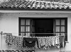 Tazones 6 - Tendedero (Enrique Gandia) Tags: old sea summer espaa beach water canon mar town spain agua pueblo asturias playa panoramica verano viejo villaviciosa ria horreo marinero cantabrico carlosv tazones carlosi bedriana canonistas enriquegandia