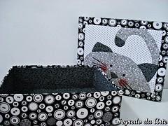 Caixa Patchwork na madeira (loja segredo da arte) Tags: gato patchworkembutido patchworknamadeira
