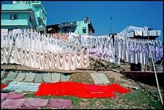 """190/366 THE WORLD--Kathmandu, Nepal  """"Laundry Day"""" (TravelsWithDan) Tags: nepal red colors oneaday laundry kathmandu 365 theworld imageaday 366 worldtrekker"""