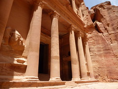 The pillars of Petra (marc's pics&photos) Tags: red history architecture geotagged ancienthistory ancient petra treasury middleeast jordan nabatean