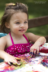 Addison finger painting (kaylarandolphphoto) Tags: