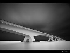 A long drive home II (Just me, Aline) Tags: blackandwhite holland netherlands zwartwit fineart nederland zeeland le brug ndfilter zeelandbrug colijnsplaat cs5 nd110 nd106 blackandwhitefineart silverexefpro