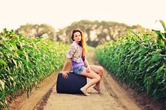 17/31 (just_makayla) Tags: light girl vintage pose hair focus location dirt trail framing suitcase leadinglines justmakayla
