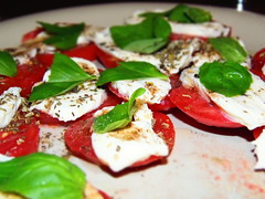 Kolacja (~tili~) Tags: food tomatoes olympus mozarella basil knp pomidory bazylia t1lus14 sp810uz