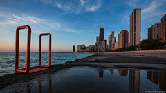 Chicago Morning Light (Explore) (Eric Hines Photography) Tags: city morning chicago skyline clouds sunrise reflections cityscapes lakemichigan thedrake johnhancocktower lakefronttrail 1635mmf28lii 5dmarkiii