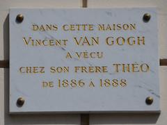 Vincent and Theo Van Gogh plaque - 54 rue Lepic, Paris 18 (Monceau) Tags: paris plaque montmartre theovangogh vincentvangogh 54ruelepic openplaques:id=3650