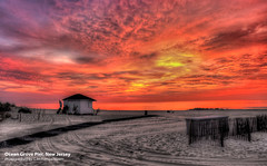 The Pier, Ocean Grove, New Jersey (nixam) Tags: ocean morning usa colors sunrise canon pier newjersey sand grove canon5d oceangrove canon2470mm nixam oceangrovepier mygearandme