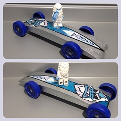 My Yeti Racer For The Pinewood Derby -
