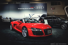 AUDI R8 (Marcel Lech Photography) Tags: auto show new red vancouver race america grey marcel shot interior wheels north front spyder international mclaren prototype bmw dodge a3 gt a4 audi viper generation m4 lfa matte debut amg lexus detailed lech r8 2014 i8 s8 cls63 rs7 650s adv1