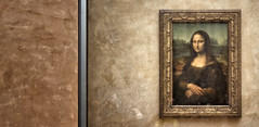 The Lady In The Frame (.::Prad Patel::.) Tags: paris art smile museum gallery louvre lisa mona