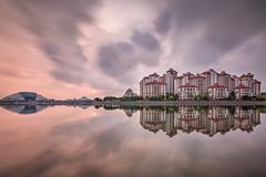 Easter Sunrise (Mabmy) Tags: reflection water clouds sunrise canon singapore long exposure sigma 16mm hdr 1224 kallang tanjongrhu 1dx manualblending