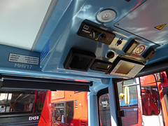 GAL MHV17 - BU16OZE - INTERIOR - BV BUS GARAGE - THUR 28TH APR 2016 Q (Bexleybus) Tags: bus london ahead volvo interior cab garage go egyptian controls belvedere drivers bv bodywork mcv goahead evoseti mhv17 bu16oze
