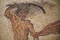 Mosaque Thse et le Minotaure -  Exposition Mosaques de la cit antique d'Aix en Provence (Vaxjo) Tags: en de la antique cit exposition le provence et mosaque mosaques daix minotaure thse