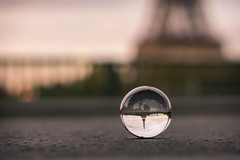 le microcosme  (micrososm) (l'imagerie potique) Tags: paris latoureiffel crystalball sigma35mmf14 poeticimagery limageriepotique labouleenverre
