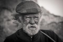 Life is..... (Leonidas5) Tags: life bw man hat beard grey oldman cap sailor