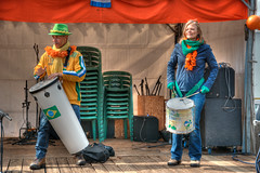 drumming up (stevefge (away travelling)) Tags: park people netherlands musicians nijmegen drums candid nederland goffertpark koningsdag nederlandvandaag reflectyourworld