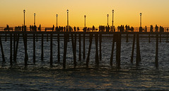 Redondo Beach Pier... (setoboonhong) Tags: sunset people sun beach me water reflections john pier seaside los angeles dusk silhouettes down dont goes redondo elton let on the