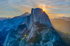 Half Dome at sunrise (ScorpioOnSUP) Tags: california sky mountains nature landscape outdoors photography nationalpark dusk halfdome yosemitenationalpark wilderness glacierpoint naturephotography cloudsrest tenayacanyon landscapephotography echopeaks vogelsangpeak tresidderpeak