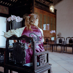 Orchids and Dragons (Kenneth Ipcress) Tags: rolleiflex orchids joanna macau kennyip