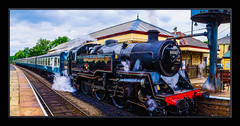 Full Steam Ahead (Kevin From Manchester) Tags: steam train railwaylines railwaystation ramsbottom panorama hdr lancashire kevinwalker canon1855mm wow