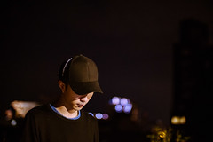 Jay (Randy Wei) Tags: portrait people rooftop night 35mm bokeh outdoor taiwan fujifilm dreamy taipei speedmaster f095 zhongyi xe1 mitakon