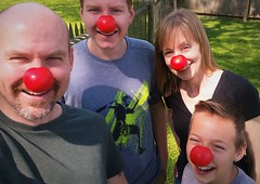 Red Nose Day (michael.veltman) Tags: family red love kids children nose day