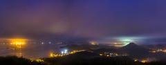 Near Dawn (Diego S. Mondini) Tags: longexposure brazil brasil night bay francisco long exposure do nightshot citylights santacatarina são sul madrugada baía sãofranciscodosul morrodacruz neardawn baiadababitonga