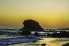 Sea Stack Sunset (smbrooks_2000) Tags: ocean california sunset beach water waves pacific pacificocean cambria