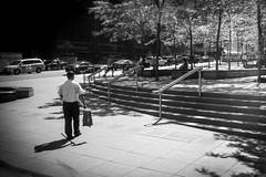 morning (Anna Afanaseva) Tags: nyc light blackandwhite sunlight monochrome shadows streetphotography stranger fujifilm justgoshoot fujinon27mm fujixt10 fujifilmxus