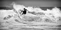 Turn (GavinZ) Tags: california lajolla lajollashores sports usa beach surfer surfing surf waves ocean water sea blackandwhite bw monochrome