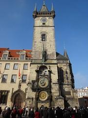 Prask orloj (bernarou) Tags: old clock square de town hall europe republic czech prague gothic central praga medieval reloj repblica astronomical checa republika czechia orloj astronmico prask esk