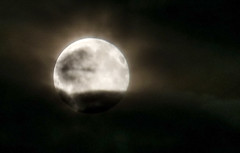 summer solstice strawberry moon (lunaryuna) Tags: night mood shine fullmoon nightsky hiding lunaryuna cloudcover darkclouds lightmood erdbeermond lunaticimagery summersolsticenight