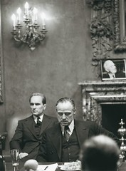 Marlon Brando and Robert Duvall in The Godfather, 1972.[550x746] #HistoryPorn #history #retro http://ift.tt/1UGzsgk (Histolines) Tags: history robert retro timeline brando godfather marlon duvall the vinatage historyporn histolines 1972550x746 httpifttt1ugzsgk
