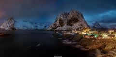 Reinefjorden At Night (shaunyoung365) Tags: sea mountain seascape norway night landscape lofoten sonya7rii
