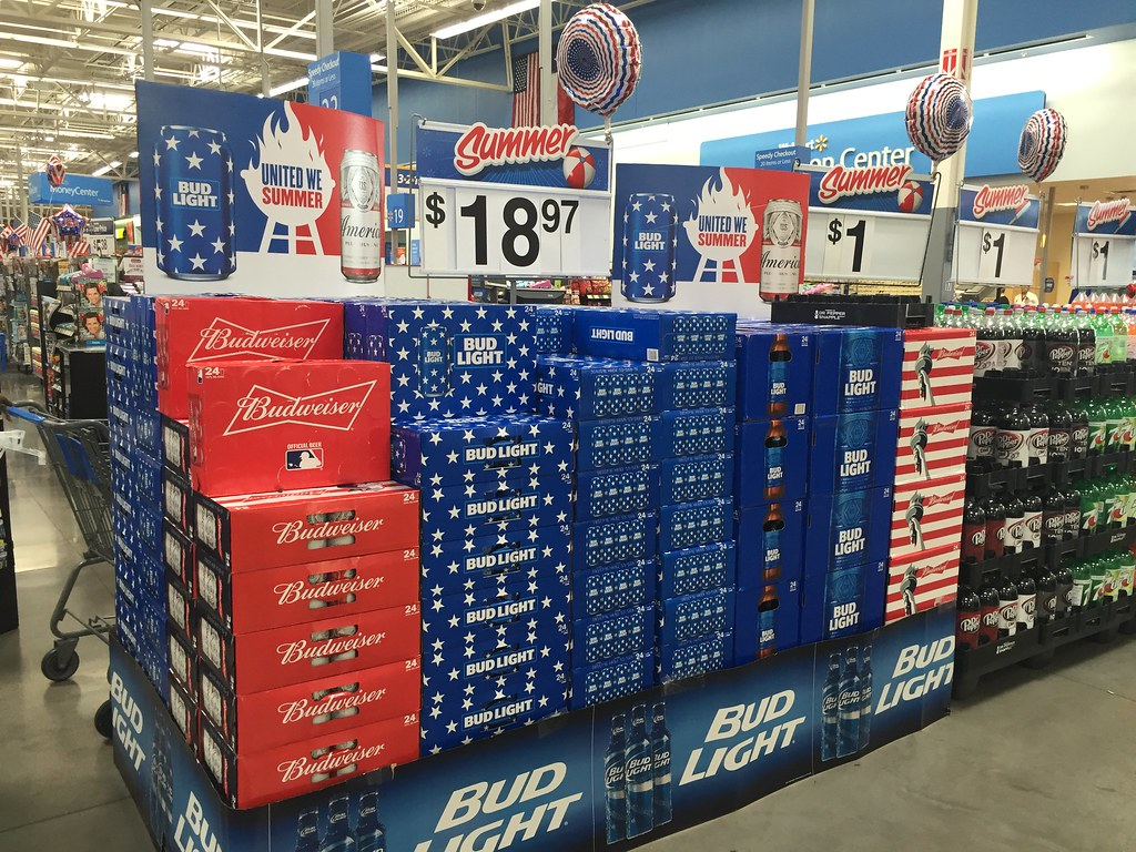 Budweiser Display (TMAShopperScout) Tags: Walmart Seasonal Cpg Display Great Pictures
