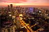 Vertigo Bar at sunset (losicar) Tags: city sunset rooftop skyscraper thailand cityscape bangkok aerialview nightview highup banyantreehotel vertigobar