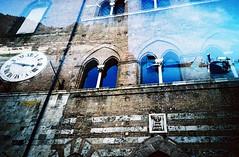 Wall (saviorjosh) Tags: old travel italy holiday building clock film wall lomo lca xpro lomography kodak
