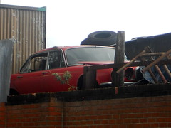 Old Jag (Moments of Yesterday) Tags: car scrapyard jaguar scrap salvage